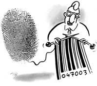 Kein-rfid-fingerabdruck-barcode in sonstiges